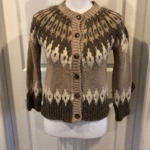 (Weekend )MaxMara Brown Cardigan Cropped Sweater